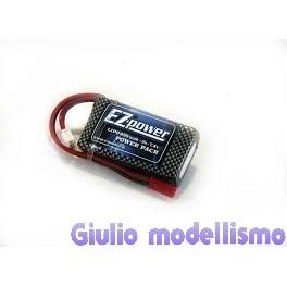 EZ-Power batt. lipo 2 celle 7.4v 850 mah 25C spina tipo bec cod. EZP850/2
