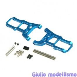 Eagle Racing braccetti ant. more angle ergal blue Tamiya VDF VDFII TA05 cod. 3863
