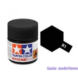 Tamiya X-1 colore nero lucido acrilico 10 ml  81501