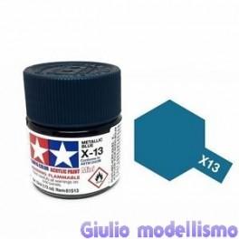 Tamiya X-13 colore blu metallizzato lucido acrilico 10 ml  81513